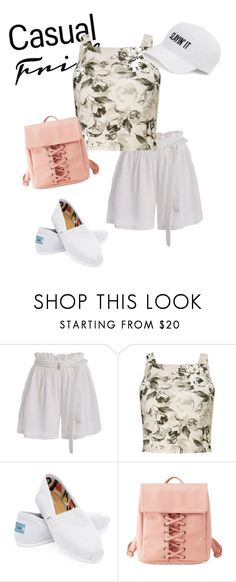 """""""sneakers"""" by masayuki4499 ❤ liked on Polyvore featuring Miss Selfridge, TOMS, Charlotte Russe and SO"""