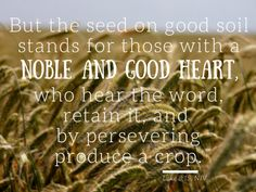 Noble and good heart