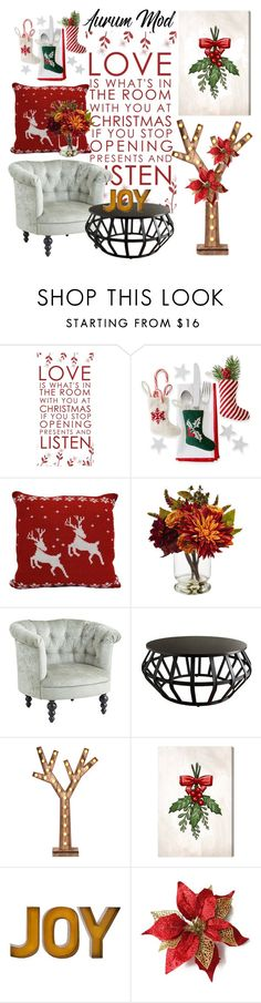 """Christmas: Home Alone"" by kikiseppr on Polyvore featuring interior, interiors, interior design, home, home decor, interior decorating, Nearly Natural, Pier 1 Imports, Inspire Q and Parlane"
