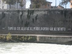 """""""I love you now to the end of the world... forever here... to infinity.""""    Rome, Italy on Isola Tiberina"""