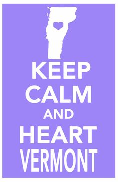 keep calm Vermont print art poster all 50 states by ThePickleShop, $14.99