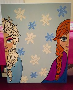 Elsa and Ana picture made for our family! :) #frozen