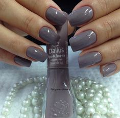 60 Ideas For Nails Colors 2018 Manicure Colors, Manicure And Pedicure, Nail Colors, Gray Nails, Toe Nail Designs, Super Nails, Gorgeous Nails, Trendy Nails, Toe Nails