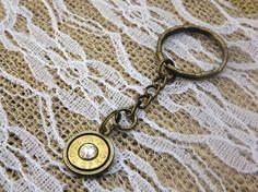 Brass Bullet Keychain - Bullet Jewelry-  30 06 Bullet - Gun Key Chain - Brass Bullet Casing - Redneck Jewelry - Hunting - Camo