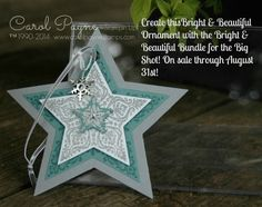 Stampin'Up! Ornament made with the Bright & Beautiful Bundle!