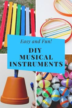 You and your little ones will love these musical instrument crafts for kids! They're super easy and a great way to have some homemade musical fun.