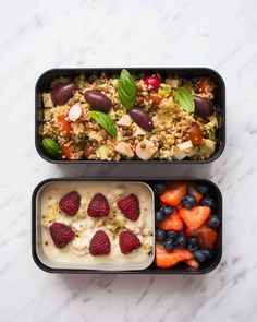 These healthy vegan bento box ideas and recipes for lunch will make sure th Healthy Meal Prep, Healthy Foods To Eat, Healthy Snacks, Healthy Eating, Lunch Recipes, Vegetarian Recipes, Healthy Recipes, Meal Plans To Lose Weight, Mets