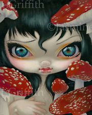 Jasmine Becket-Griffith art print SIGNED Poisonous Beauties VI: Fly Agaric fungi