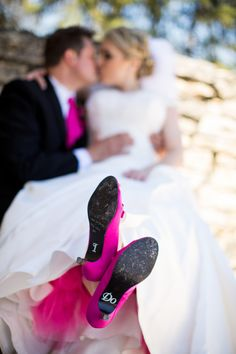 Pink and Black Wedding: Shoes Cute Wedding Ideas, Wedding Pics, Our Wedding, Dream Wedding, Wedding Inspiration, Wedding Dreams, Pink Black Weddings, Wedding Wishes, Wedding Attire