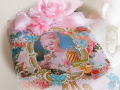Marie Antoinette Let Us Eat Cake Portrait Gift Wrap 4 Sheets from Paulette Kinney for www.PaperNosh.com