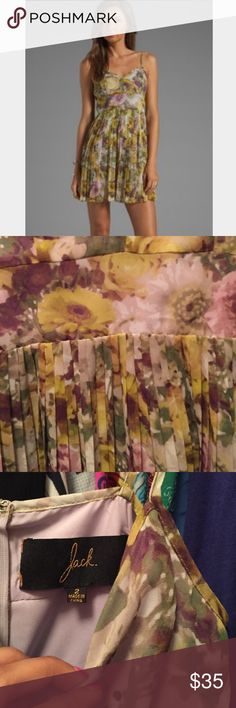 1 day sale! NWT Jack by BB Dakota floral dress 🌼 NWT Jack by BB Dakota floral flowy pleated dress, purchased from UO, gorgeous! 🌼 Urban Outfitters Dresses Mini