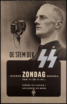 """Publicizing the Dutch collaborationist """"Voice of the SS Every Sunday Morning Morning from 11:30-11:45"""""""