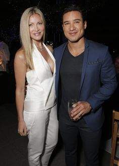 Caprice Bourret, left, and Mario Lopez at the Distortion of Sound documentary premiere presented by Harman at the Grammy Museum on Thursday, July 10, 2014, in Los Angeles. (Photo by Todd Williamson/Invision for Harman/AP Images) #distortionofsound