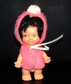 Vintage Girl Doll Uneeda Doll PEE WEE Doll from 1966 - - Kiddle Kiddles ERA - 45 Years Old
