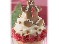 Weihnachtlicher Cupcake   Zeit: 30 Min.   http://eatsmarter.de/rezepte/weihnachtlicher-cupcake