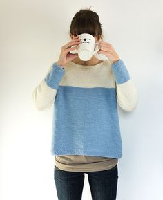 Baby blue sweater pattern by anna ravenscroft