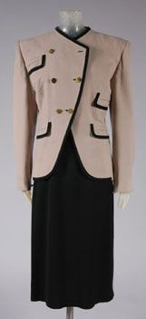 """c. 1943 suit  """"Pockets to Spare""""- Adrian  Philadelphia Museum of Art  Accession #: 1977-38-2a,b"""