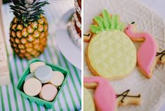 Des biscuits ananas et flamant rose