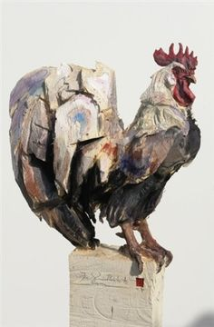 View Coq by Jürgen Lingl Rebetez on artnet. Browse upcoming and past auction lots by Jürgen Lingl Rebetez. Bird Sculpture, Animal Sculptures, Clown Paintings, Chicken Art, Keys Art, Galo, Art Carved, Wow Art, Wooden Art