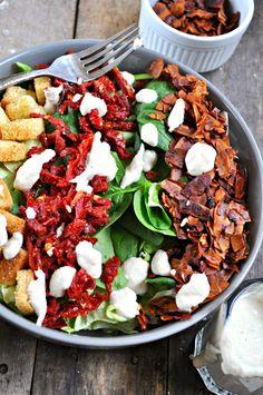 Vegan BLT Salad - Rabbit and Wolves