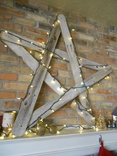 oversized rustic Christmas star