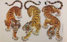 Japanese Tiger Art, Japanese Tiger Tattoo, Japanese Drawings, Chinese Tiger, Tiger Illustration, Tattoo Illustration, Ink Illustrations, Tattoo Sketches, Tattoo Drawings