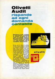 Olivetti Audit 202 e le Audit 302 risponde ad ogni domanda contabile, 1962
