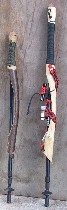 Hiking Stick 20 and Survival Hiking Stick 20 by Naturalistick