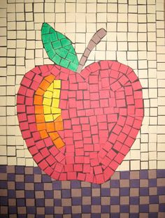 make a mosaic apple—a mosaic project to teach children art history