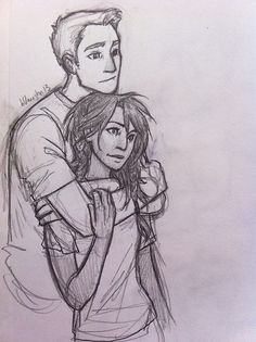 Jason and Piper - Jasper - Jiper (Heroes of Olympus) loveeeee them! they ain't percabeth, but still awesome :)