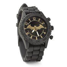 Batman Gold Emblem Rubber Strap Watch