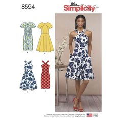 Sew your favorite of these sweet dresses for Misses and Petites with bodice and skirt variations. Find the pattern at Simplicity.com.