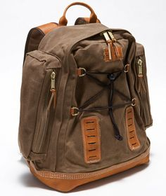 Waxed-Canvas Backpack: BAGS | Free Shipping at L.L.Bean