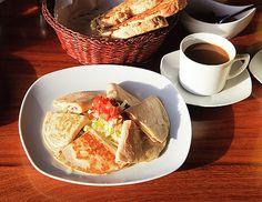 NadyaEugene Photography - quesadillas with cheese and ham, coffee for breakfast