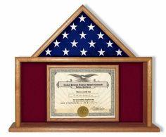 USMC Flag and Certificate Display Case, USMC Flag Frame   Flag Display Cases, Burial Flag Frames, Flag Medal