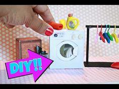 DIY Miniature Washing Machine | DOLLHOUSE DIY - YouTube