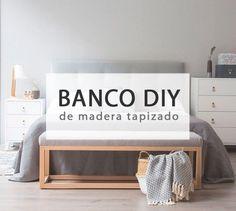 Crea un original banco de madera tapizado #diy #deco