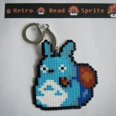 Porte-clefs totoro 2 - bead sprite - pixel art