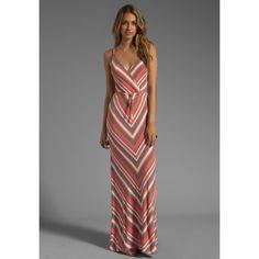 Stripe Cami Maxi-Dress by Bobi