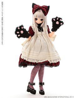 えっくす☆きゅーと10th Best Selection:Classic Alice Chershire cat AIKA(あいか)(にっこり口ver.) 髪色:MistySilver