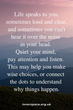 Can you hear what life is telling you? Mind Gym, Covent Garden, What Is Life About, Pay Attention, Personal Development, Meditation, Mindfulness, Positivity, Thoughts