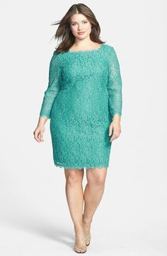 http://www.weddingstuff2014.com Adrianna Papell Lace Overlay Sheath Dress (Plus Size) available at #Nordstrom