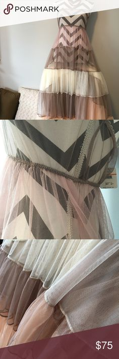 Brand New Intimately Free People Lacey dress!! Brand New Intimately Free People Lacey dress!! Natural. colors! Elastic waistband! Adjustable straps! Free People Dresses