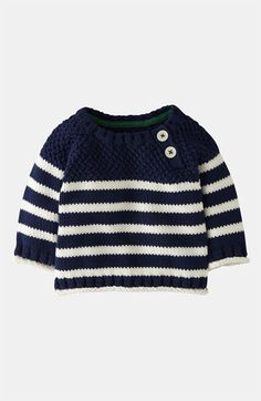 Free shipping and returns on Mini Boden Knit Sweater (Baby) at Nordstrom.com. Differing textures lend style and comfort to a preppy, knit sweater styled with a pair of buttons at the neck.
