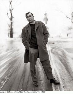 Jasper Johns by Richard Avedon, 1965.