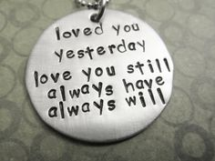 LoveHand Stamped Jewelry by ChristinesImpression on Etsy, $28.00