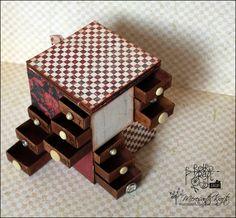 Filmowy Retro Tutek - Komódka z pudełek po zapałkach / Video Retro Tutorial: Matchbox chest of drawers