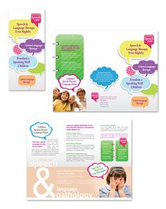 Speech & Language Pathology Tri Fold Brochure Template http://www.dlayouts.com/template/420/speech-language-pathology-tri-fold-brochure-template
