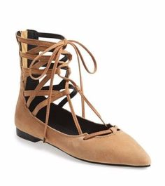 JEFFREY-CAMPBELL-ATRIUM-CAMEL-SUEDE-POINTED-TOE-CAGED-LACE-UP-RAISED-ANKLE-FLAT