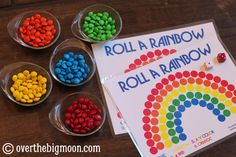 Patrick's day with these fun and simple St. Patrick's day kids crafts and activities. In this post you'll find: leprechaun crafts, rainbow crafts, printable St. Patrick's Day activities, and leprechaun trap ideas. Rainbow Games, Rainbow Activities, Rainbow Crafts, Rainbow Theme, Spring Activities, Holiday Activities, Activities For Kids, Rainbow Roll, Preschool Crafts